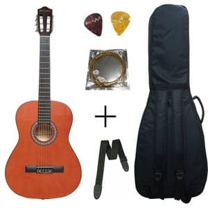 Belear M-40 39 Inch Orange Classical Guitar With Bag , String , Strap and Picks