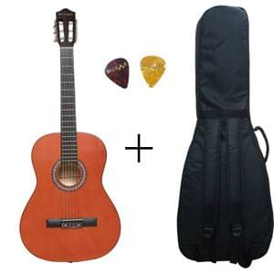Belear M-40 39 Inch Orange Classical Guitar With Bag and Picks