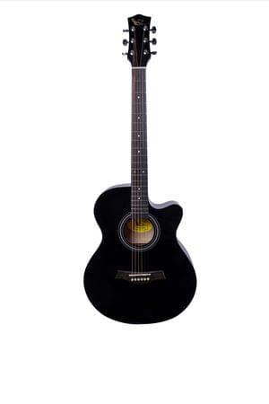 Swan7 40C Maven Series Spruce Wood Black Glossy Acoustic Guitar