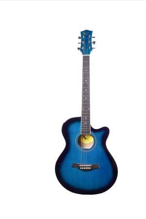 Swan7 40C Maven Series Spruce Wood Blue Glossy Acoustic Guitar