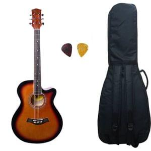 Swan7 40C Maven Series Spruce Wood Sunburst Glossy Acoustic Guitar With Bag and Picks