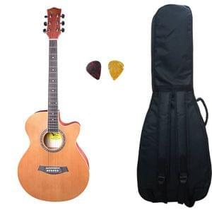Swan7 40C Maven Series Spruce Wood Brown Matt Acoustic Guitar With Bag  and Picks