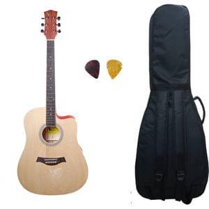 Swan7 41C Maven Series Spruce Wood Natural Matt Acoustic Guitar With Bag and Picks