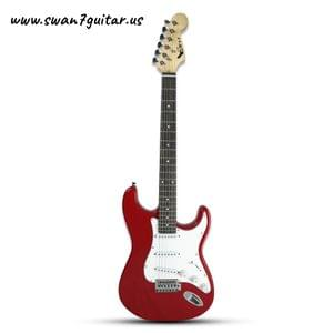 Swan7 ST-01 Maven Series Red Electric Guitar